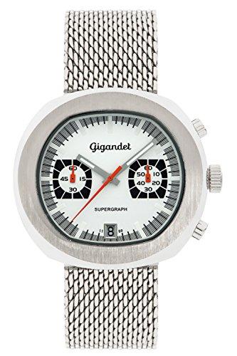 Gigandet Supergraph Orologio da Uomo Quarzo Cronografo Analogico Data Argento G11-001
