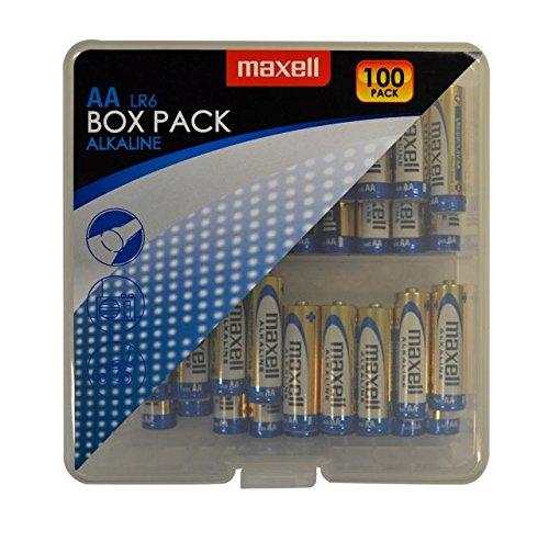 Maxell - Confezione da 100 batterie alcaline LR6 tipo AA