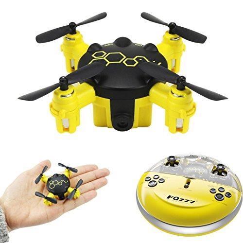 Drone ASHOP Giocattolo Drone Aereo Telecomandato Aereo, Fq777 Fq04 Scarabeo Mini Drone Tascabile Con...