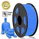 Filamento PLA Plus de la impresora SUNLU 3D, filamento PLA de 1.75 mm, filamento de impresión 3D de bajo olor, precisión dimensional +/- 0.02 mm, filamento 3D del carrete 3D,azul PLA +