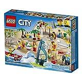 LEGO City Town - Pack de MiniFiguras Diversión en la Playa, Juguete de Construcción, Incluye Piragua y Tabla de Windsurf (60153)