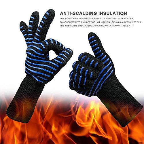 Womdee BBQ Grilling Cooking Gloves, 300–500Gradi Celsius Resistente al Calore Guanti...
