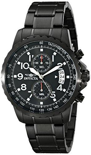 Invicta 13787 Specialty Herren Uhr Edelstahl Quarz schwarzen Zifferblat