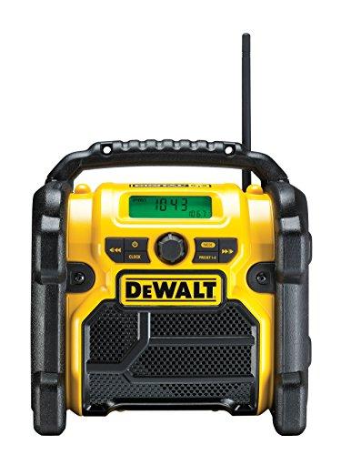 DeWalt Akku- und Netz-Radio/ Baustellen-Radio (DAB(DAB(+)/FM Stereo/FM, für 10,8 - 18 V, 3.5 mm Aux...