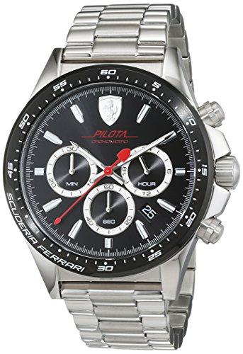 Orologio da uomo con cinturino in acciaio inox, Scuderia Ferrari 0830393
