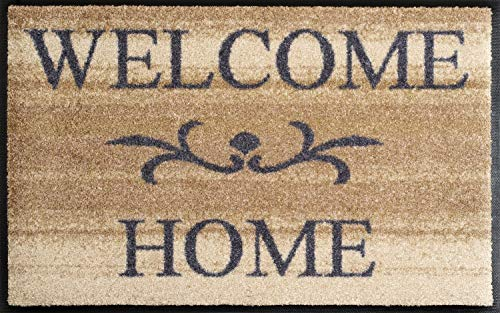 Wash+Dry - Tappeto Welcome Home beige 50x75, Beige