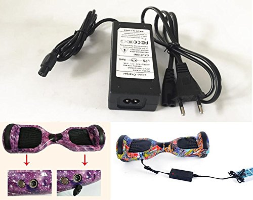42V 2A EU Alimentazione AC adattatore Carica Batterie per Hoverboard Scooter Elettrico Monopattino...