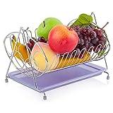 FRUI Obstteller Edelstahl-Färbepfanne, Abflussbecken, quadratischer Schaukelfruchtkorb, Obstkorb, Obst- und Gemüsekorb, Küchenware