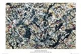 1art1 Empire 77431 - Póster de Plata sobre Negro de Jackson Pollock (91,5 x 61 cm)