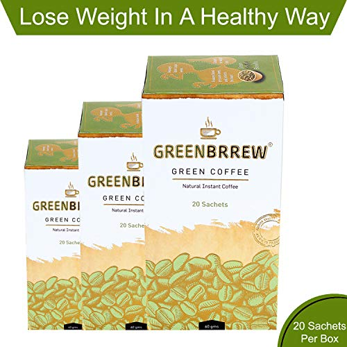 Greenbrrew Natural Instant Green Coffee for Weight Management (Pack of 3, 20 Sachets) - 60g Each 4