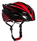 AWE® AWEBladeTM FREE 5 YEAR CRASH REPLACEMENT* In Mould Adult Mens Racing Cycling Helmet 58-61cm Black/Red