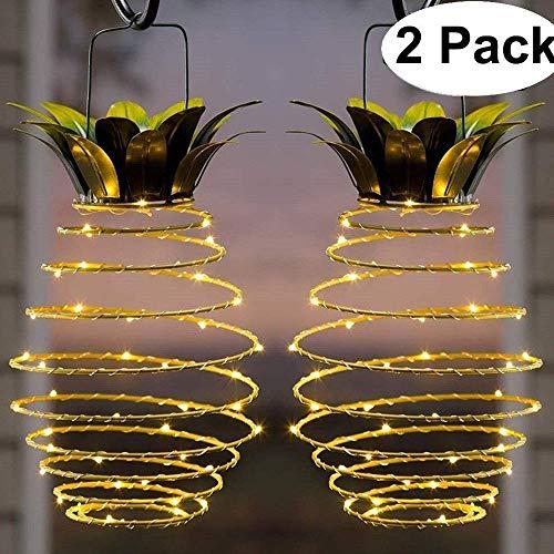 ALLOMN Solar Lampe, Garten Dekoration Licht Solar Laterne Lampe Wasserdichte Draussen Neuheit Ananas Lichter Gartenweg Hängeleuchten (2 PCS)