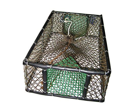 EVO FISHING Nassa Artigianale con Struttura Inox 47x32x16 cm
