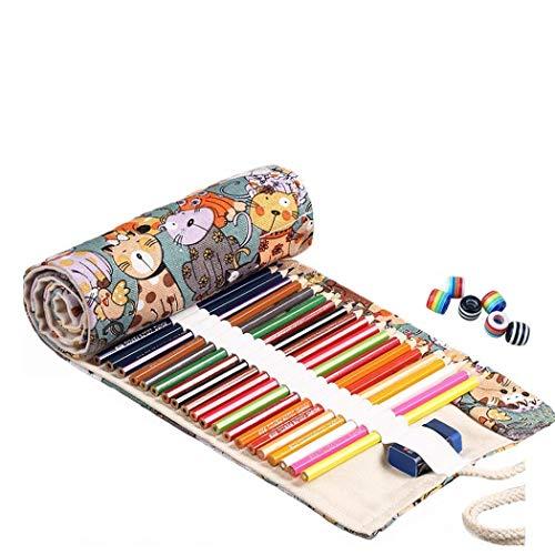 Amoyie - Portamatite arrorolabile per matite colorate sacchetto della matita , medio72 holes