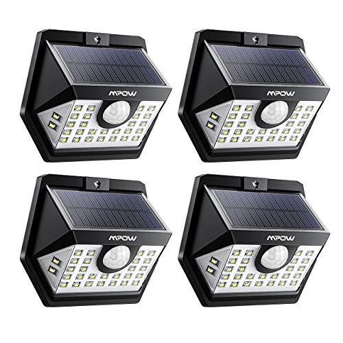 [4 Pezzi]Luce Solare Mpow 30 LED, 3 Modalità di Illuminazione, Impermeabile IP65 Luci Solari con...