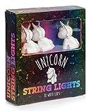 Guirlande Lumineuse 10 Mini Licornes Blanches à LED Éclairage Blanc Chaud 2 Mètres à Piles