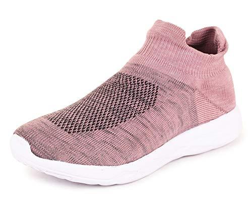 TRASE Skyler Knitting Pink Women Running Shoe - 7 IND/UK
