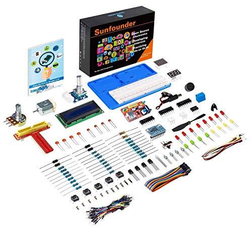 SunFounder Super Starter Learning Kit V3.0 for Raspberry Pi 3B+, 3, 2 Model B & 1 Model B+, Including 123-Page Instructions Book for Beginners