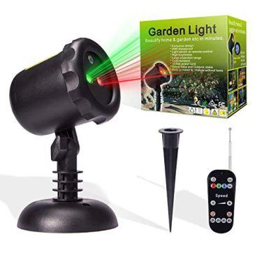 MICTUNING Projecteur Extérieur LED Lumière de Noël Etoilé Vert/Rouge