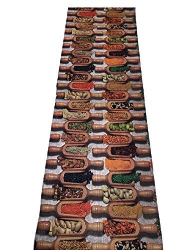 Tappeto passatoia fantasia legumi cucina antiscivolo lavabile varie misure - Fantasia - 50x400 cm