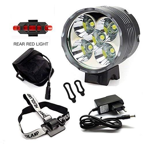 Luci per Bici, YEHOLDING 7000 Lumen 5 x CREE T6 XM-L LED Bici Luce/Luci per Bicicletta/Bike...