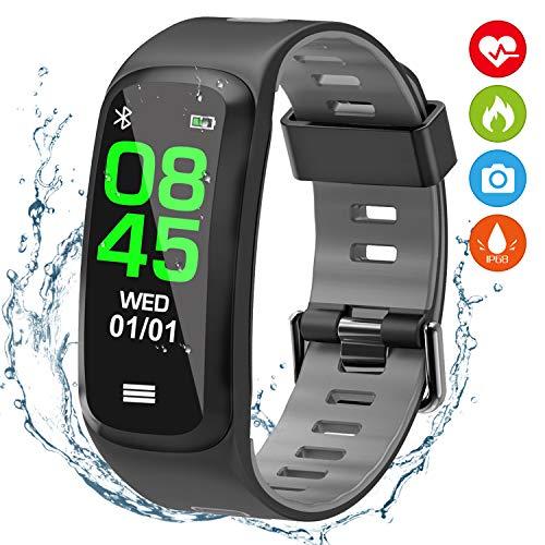 Fitness tracker, Orologio Fitness Braccialetto Intelligente Pressione Cardiofrequenzimetro da Polso...