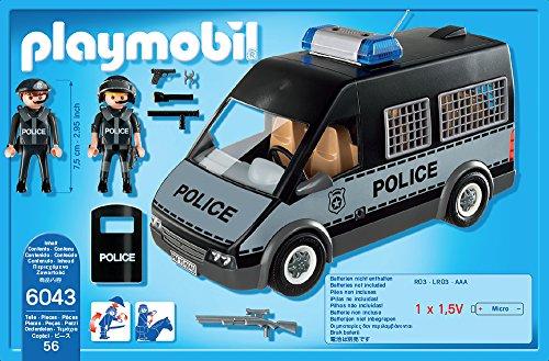 PLAYMOBIL 6043 – Polizei-Mannschaftswagen mit Licht und Sound - 3