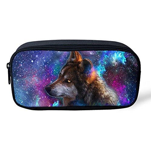 Coloranimal Universe Space Galaxy Animal stampato scuola astuccio per bambini 8.66 inch(L) x1.77...