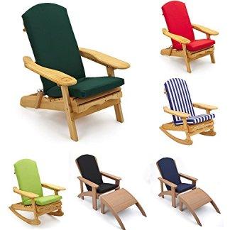 Trueshopping Adirondack Cuscino per Sedia da Giardino Un Pezzo: Sedile, Cuscino per Schienale e Testina Disponibile in 7 Colori 520mm x 470mm – Solo Cuscino
