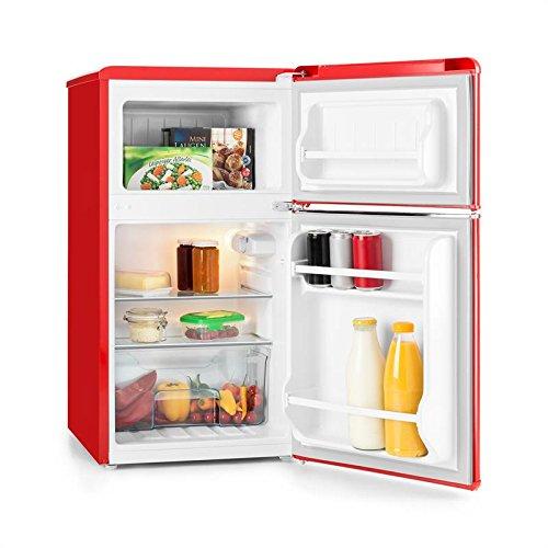 Klarstein Monroe Red • Frigorifero e congelatore • Aspetto Vintage • 61 l • congelatore da...