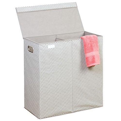 mDesign Wäschesammler 2 Fächer