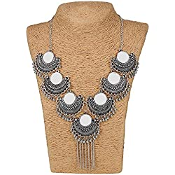 CODE MAX DESIGN Turkish Style Vintage Oxidized German Silver Necklace for Women