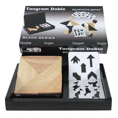 Tangram doble con estuche de madera
