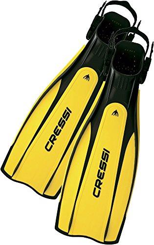 Cressi Pro Light Pinne Regolabili per Immersione e Snorkeling, Nero/Giallo, M/L (41/43)