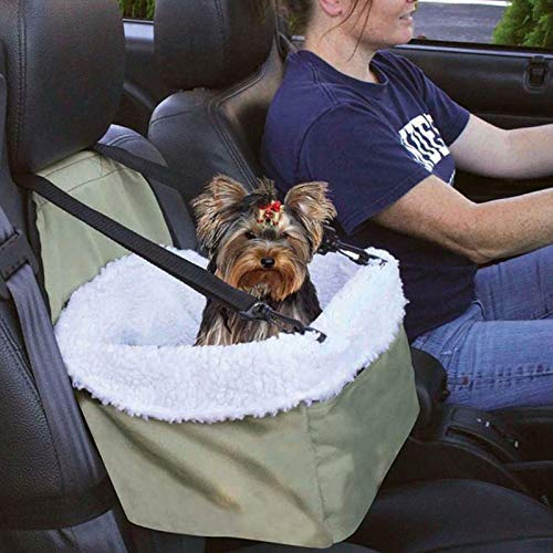DIGIMALL 40F2 Dog Car Booster Seat Pet Supply Travel Foldable Safety Adjustable Strap Bas