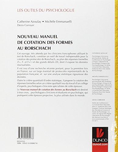 Nouveau manuel de cotation des formes au Rorschach 23
