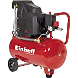 Einhell TC-AC 190/24 - Compresor, depósito de 24 l, 2850 rpm, 8 bar, 1500 W, 220 V, color rojo y...