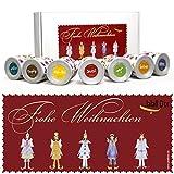 Geschenkset WEIHNACHTEN von Jalall D'or mit 7 Dosen   ausgefallenes WEIHNACHTSGESCHENK für Männer & Frauen   für Firmen-Kunden   mit PREMIUM Trockenfrüchten & Nüssen   685 g   natur & mit Schokolade
