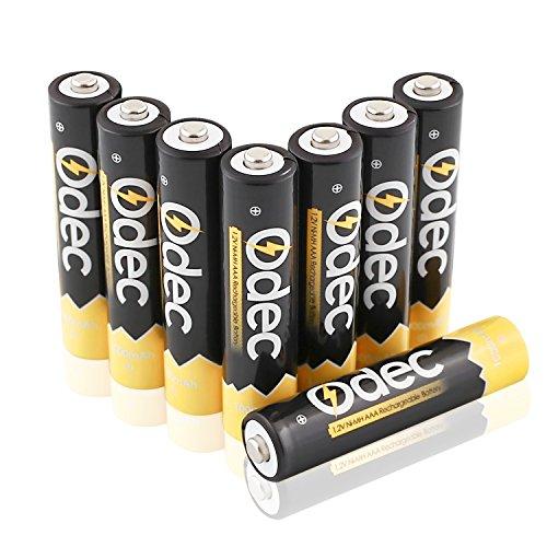 Odec AAA Micro NiMH Akkus, 1,2 V 1000mAh Wiederaufladbare Batterien, Packung von 8