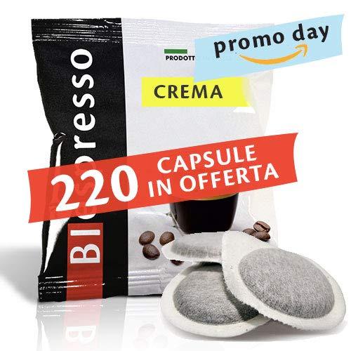 Biespresso 200 + 20 Cialde da 38 mm, Gusto Crema, Caffè prodotto in Italia, Formato XP