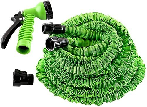 KANTHI 75ft Expandable Garden Hose Magic Flexible Water Hose EU Hose Plastic Hoses Pipe with Spray Gun Washing Car Watering, 15ft/22.5 m