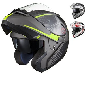 BLACK Optimus SV Tour Motorrad Roller Klapphelm 7