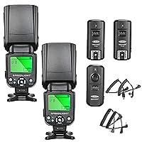 NOTA: fotocamera e Batterie NON incluse!    Caratteristiche:     (1) NW-561 Flash Numero Guida : 35 (ISO 100, 35 mm) Modalità flash: M / MULTI / S1 / S2 Flash Copertura: Zoom Fissato Testa inclinabile(flash di rimbalzo) Trigger Wireless: S1 / S2 i...