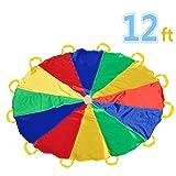 Paracaídas 12' con 12 asas para interior o exterior 3.50 m (niños de 6-12 años)