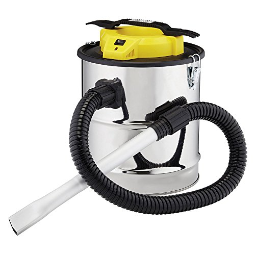 Maxi Vac Fireplace Ash Vacuum Bagless Cleaner Lightweight 800w with 15L Tank, HEPA Filter & Dust Tool for Stove, BBQ & Fire Pits (Ash Vac)