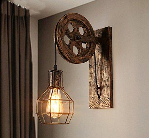 wandleuchte e27 vintage wandlampe retro wandbeleuchtung kreative beleutung f r treppenhaus flur. Black Bedroom Furniture Sets. Home Design Ideas