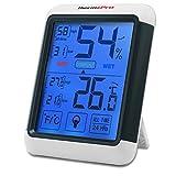 ThermoPro TP55 Termometro Igrometro Digitale da Interno, Misuratore di Umidità e Temperatura con Grande LCD Schermo di Tocco Retroilluminato, Memoria Massima/Minima, Monitor di Comfort Casa