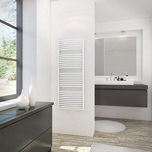 Schulte  sèche-serviette pour salle de bain, radiateur à eau chaude, env. 600 W, blanc, 60 x 114 cm