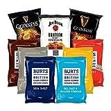 BURTS Partybox | 9 verschiedene Chips Tüten | Original Britisch | Kartoffelchips | 150 g