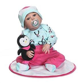 Nicery Reborn Baby Doll Renacer Bebé la Muñeca de vinilo duro de silicona 22 pulgadas 55cm Boca Niña Niño Impermeable…